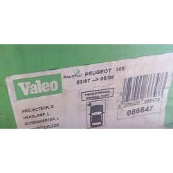 VALEO 086647 FARO IZQUIERDO PEUGEOT 306 97'-99'